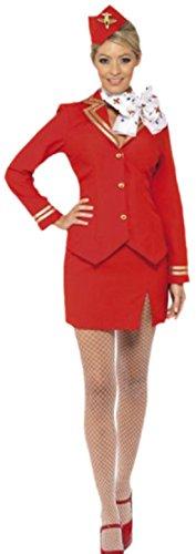 erdbeerloft - Damen Karnevalskomplett Kostüm Stewardess , M, ()