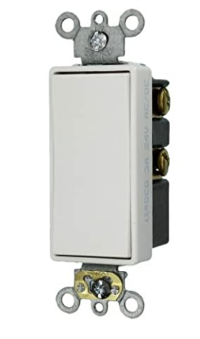 Leviton 56081-2W 3-Amp 24-Volt Decora Plus Rocker Double-Throw Ctr-OFF Momentary