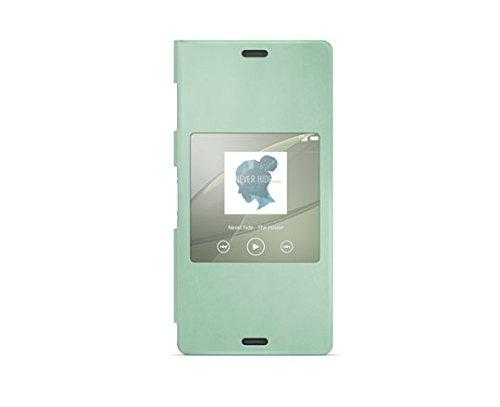 Sony SCR24 - Funda para móvil Sony Xperia Z3 (con función ventana), verde