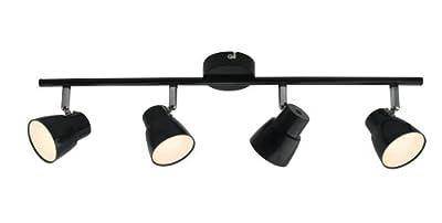 Amara LED 4x 2,5W Spot-Balken, 4-flammig, G10131/06, schwarz/chrom von Brilliant AG - Lampenhans.de