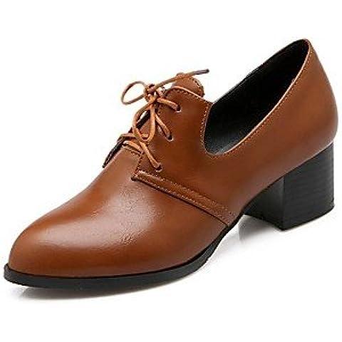 Scarpe donna punta tacco Chunky Oxfords scarpe più colori disponibili