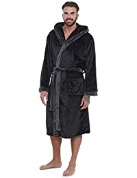 65bb882dea Super Soft Men Dressing Gown Mens Hooded Robe - Offers a Great Combination  Between Quality and