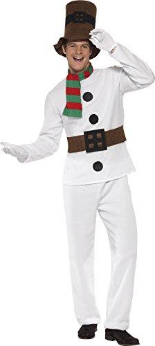 Imagen de smiffy's  disfraz de muñeco de nieve para hombre, talla l 28003l