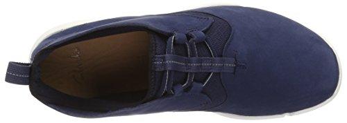 Clarks Triflow Mid, Scarpe da Ginnastica Alte Uomo Blu (Blue Nubuck)