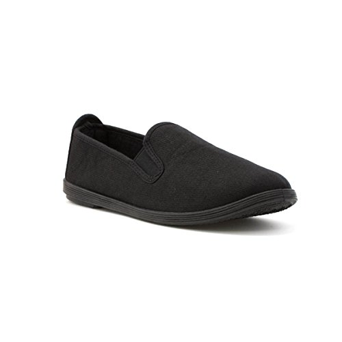 Zone - Womens Slip On Canvas Shoe in Black - Size 9...