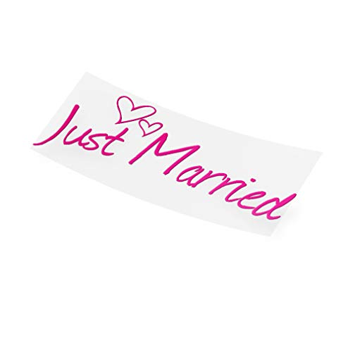 JUST MARRIED - HOCHZEITS AUTOAUFKLEBER - JAYESS
