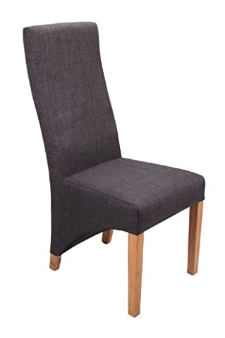 Shankar Baxter Linen Effect Upholstered Dining Chairs, Charcoal, Set of 2