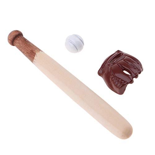 Fenteer 1/12 Puppenhausmöbel Puppenstubenzubehör - Miniatur TV Schrank/ Teeset / Sojasoße Flaschen/ Wasserspender/ Whisky Flaschen/ Donut/ Obstteller - Baseball Kit - 3pcs - Wasserspender-kits