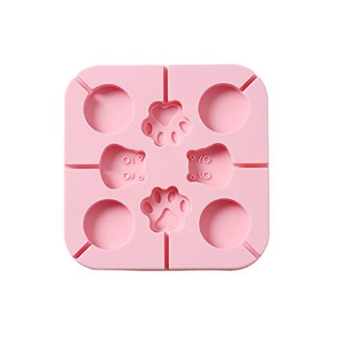 Süßigkeiten Quadratische Form Für Kinder, Webla, Backblech Schokoladenform Cookie Silikon Blume Kuchen Blume, Silica Gel Pink (C)