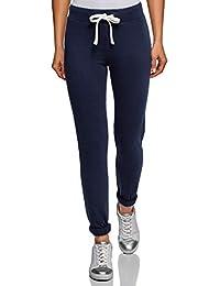501c689f5a9 oodji Ultra Mujer Pantalones de Punto Deportivos con Lazos Decorativos