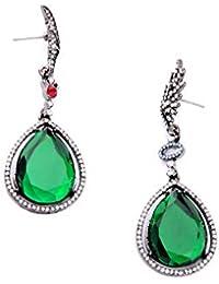 efd04f67e76d ZHOUYF Pendientes De clip Aros Tienda En Línea Joyas De Esmeralda De  Imitación Venta Cristal Verde