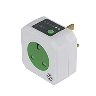 ANSMANN AES-1 Zero Watt Energy Saving Timer Plug Socket | Smart Safety Timer Plug to Control Electronics | Energy Saver Switch with Timer - White - 3 Year Warranty