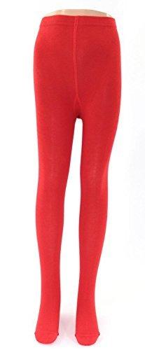 Viel Strumpfhosen (Kinder Strumpfhosen uni viele Farben Farbe: rot, Größe: 98/104)
