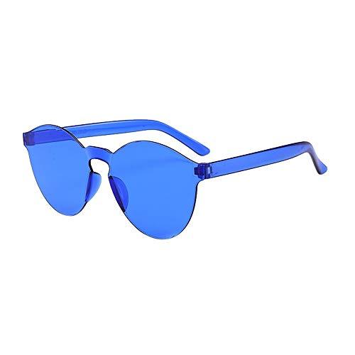 Dtuta Sonnenbrillenaufsatz FüR Brille Damen Rahmenlose Sonnenbrille In Gelee-Optik Europa Und Amerika. Integrierte Sonnenbrille In SüßIgkeitenfarbe. Leicht, Kompakt Und Leicht Zu Tragen -