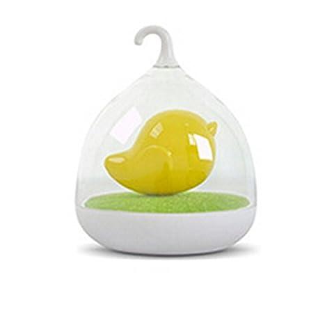 YOKIRIN Tischleuchten Desktop Lampen Kreative Aufgeladen Birdcage Tischlampe Stimme Aktiviert LED-Leuchten Nachtlicht Vogelbauer Micro Landschaft Lichter Gelb
