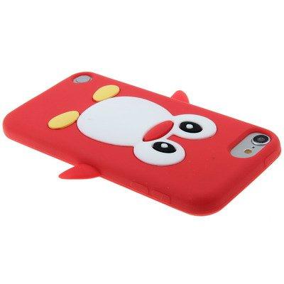 Deltenre Shop-Cover in silicone a forma di pinguino, per Samsung Galaxy S4, S3, S5-iPhone 4/4S-5/5S, 5C, 6, iPod Touch 5, iPod Nano 7 rosso