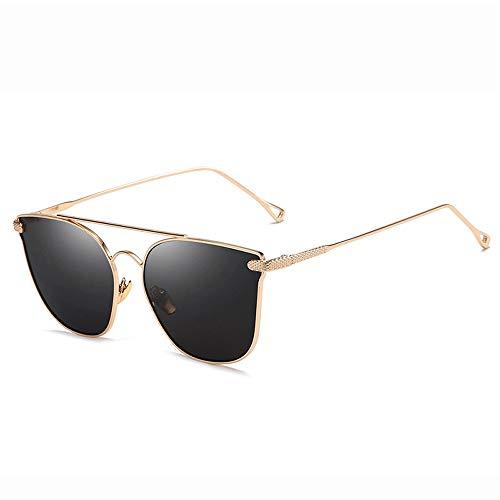 Yiph-Sunglass Sonnenbrillen Mode Sonnenbrille Erwachsener Metallrahmen Unisex Aviator, der polarisierte Sonnenbrille fährt (Farbe : Gold, Größe : Casual Size)