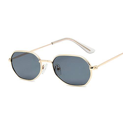 YOGER Sonnenbrillen Kleine Rosa Hexagon Sonnenbrille Für Frauen Designer Eyewear Shades Damen Legierung Spiegel Sonnenbrille Weibliche Uv400