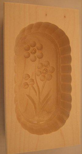 Butterform, eckig, 125 Gramm, Ahorn, Blume 1