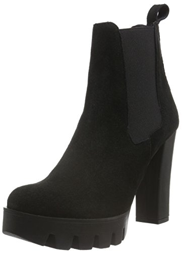 Shoe Biz Bati, Stivali Chelsea Donna Nero (Suede Black)