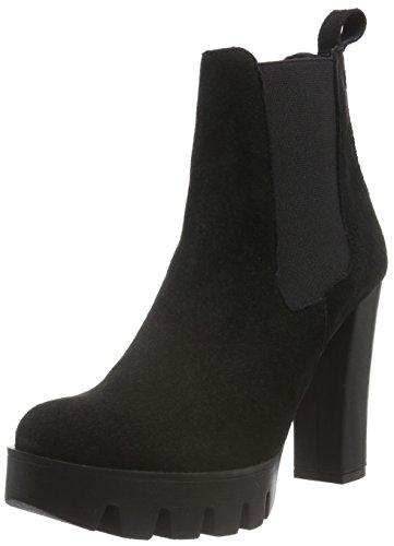 Shoe Biz Bati, Stivali Chelsea Donna, Nero (Suede Black), 40 EU