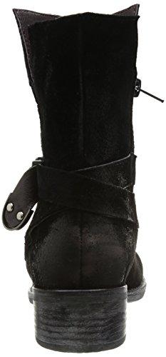 Un Matin d'Eté Galza No.8-6 Damen Stiefel & Stiefeletten Schwarz - Noir (Tsuede Nero)