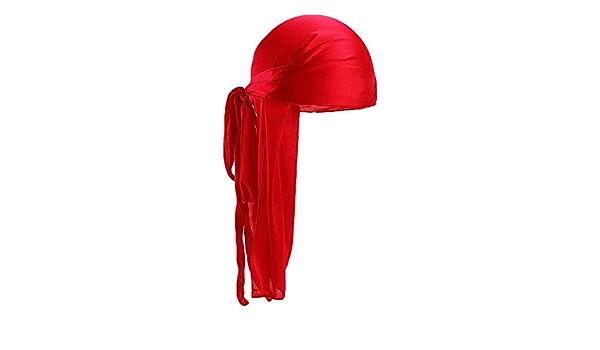 Greatangle M/änner Frauen Seidensatin Atmungsaktiv Seidig Durag 360 Wave Cool Bandana Hut Turban