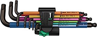 Wera 05073593001 950 SPKL/9 SM N Multicolour Juego de Llaves acodadas métricas, BlackLaser, 9 Piezas, Set (B009ODV0OE) | Amazon price tracker / tracking, Amazon price history charts, Amazon price watches, Amazon price drop alerts