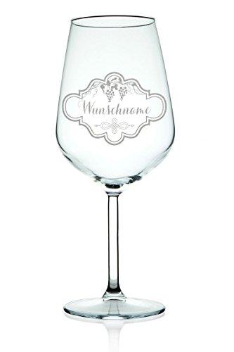 Leonardo XL Weinglas mit Gravur eines Namen - schöne Geschenkidee zum Geburtstag & für echte Weingenießer - Füllmenge: 460ml - Hochwertige Laser-Gravur (460 Laser)