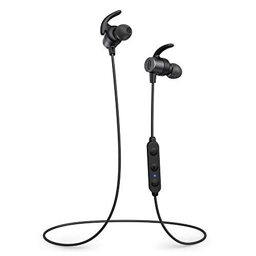 TaoTronics Wireless Bluetooth Kopfhörer 5.0 Magnetische Sport Ohrhörer aptX HD Audio 13 Stunden Wiedergabezeit EQ Einstellung cVc 8.0 Geräuschunterdrückung IPX6 Wassergeschützt (Tao Bluetooth)