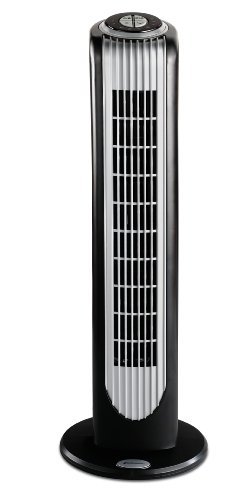 Bionaire BT16RBS-IN 40-Watt Remote Control Tower Fan (Black and Silver)