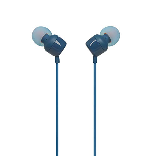 JBL T110 in-Ear Headphones with Mic (Blue) Image 4