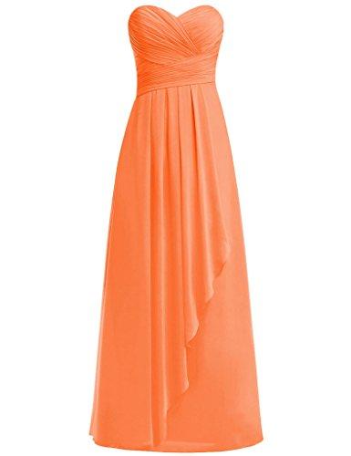HUINI Damen Modern Kleid Orange