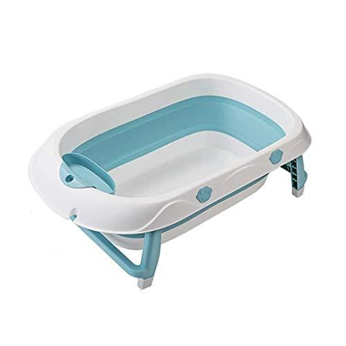SUN HUIJIE Tina de bebé Antideslizante Plegable for bebés recién Nacidos Se Puede sentar y acostarse Cuencos de baño for niños Bañera for el hogar (Color : Blue)