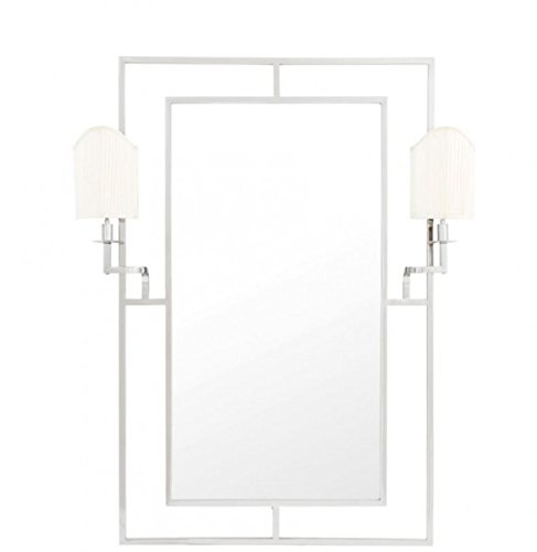 Casa-Padrino-Luxury-Designer-Wall-Mirror-Nickel-113-x-H-140-cm-Luxury-Hotel-Mirror