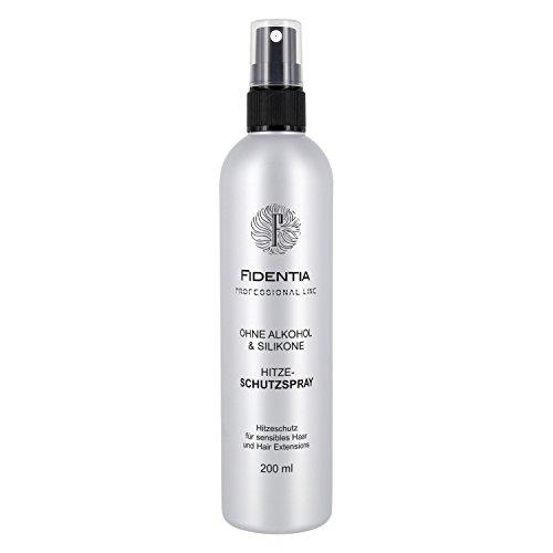 Fidentia Hitzeschutzspray | OHNE Alkohol & Silikone | Sensitiv Hitzeschutz für Haare, Extensions, Perrücken | 200ml