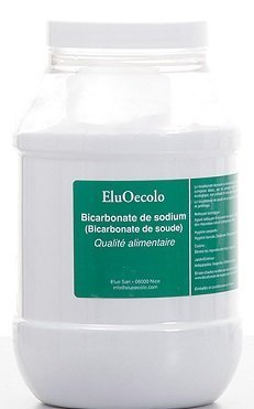 Bicarbonate de Soude 1kg boite hermétique - Qualité alimentaire (doseur à lintérieur) EluOecolo Made in France