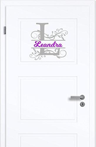 r für Kinderzimmer - Wände,Türen, Autoscheiben/Lack uvm ***Ihr Monogramm Buchstabe + Wunschtext***(Größen.- und Farbauswahl) (Monogramm-aufkleber)