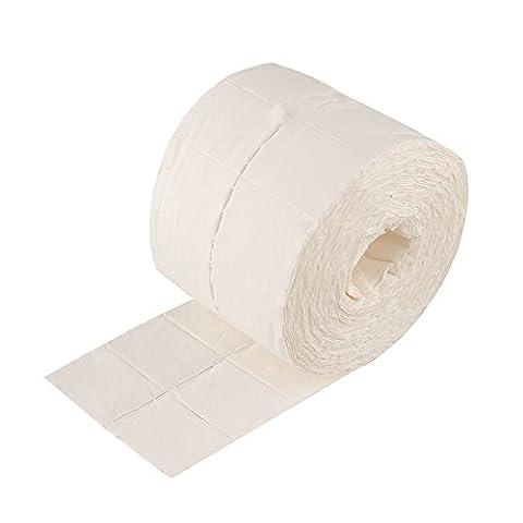 Kicode Utile Durable 500 pcs Clou Art Conseils Manucure Acyrlic Poudre polonais La colle Retirer Papier Ouate Cellulose Nettoyeur Essuyer Coton Coussinets