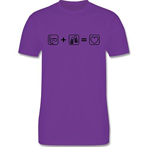 Sport - Taucherliebe - Herren Premium T-Shirt Lila