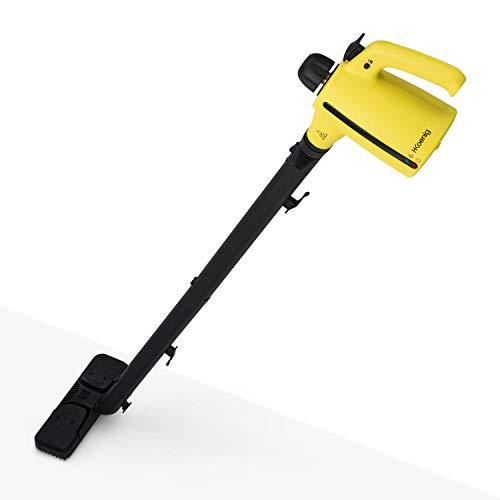 12 - H.Koenig NV700 Limpiador A Vapor Escoba y De Mano 2 en 1, Vaporeta 1050 W, 3,5 Bares, Hasta 138 Grados, Capacidad de Agua de 350 ml, Amarillo, Plástico