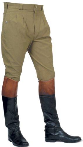 Mark Todd Auckland Pantalon d'équitation pour homme Devant plissé vert - Vert olive