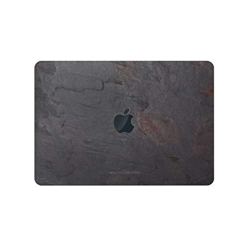 Woodcessories - EcoSkin Stone - Premium Design Apple MacBook Cover, Skin, Schutz für Das MacBook mit Apfellogo aus hochwertigem Stein (MacBook 15 Pro Touchbar (ab 2016), Volcano Schwarz) (Computer Skins Pro Macbook)