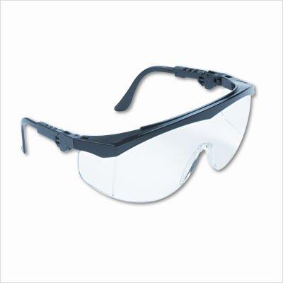 Tomahawk Wraparound Safety Glasses, Black Nylon Frame, Clear Lens, Sold as 1 Box