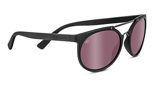 Serengeti Eyewear Sonnenbrille Lerici, Satinack/Shiny Dark Gun/Polarized Sedona Bi Mirror, 8358