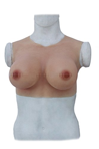 KUMIHO Silikon Büsten-Pad CD der Transvestismus Cos künstliche Brüste die Transvestiten, männliche künstliche Brüste Silikon männliche künstliche Brüste männliche Frau Runder Krage Y (Asien Gelb)