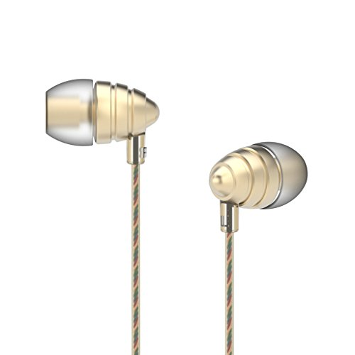 Uiisii Us90 Best Wired in-Ear Earbud Headphones with Mic & Remote Control, Comfortable Earphones Compatible for iPhone, Android