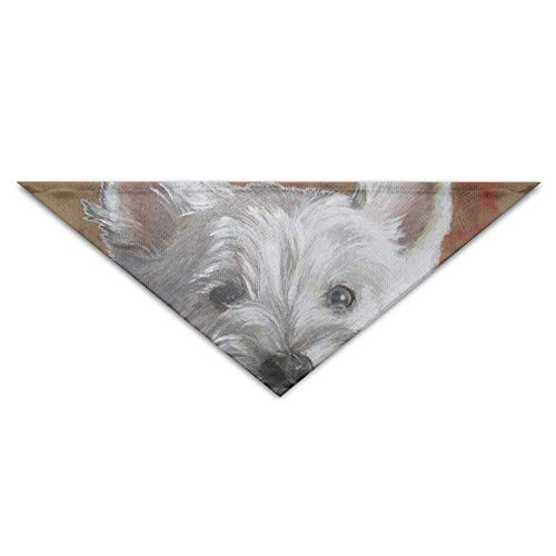 Sdltkhy Maltese Puppy Dog Painting Dog Bandanas Scarves Triangle Bibs Scarfs Fashion Basic Neckerchief Cat Collars Pet Costume Accessory Kerchief for Large&Medium&Small Puppy