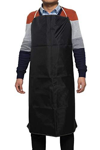 Mufly Schwere Arbeitsschürze aus gewachstem Kevlar, weich und belüftet für Küche, Garten, Keramik, Werkstatt, Garage und mehr (Schwarz)