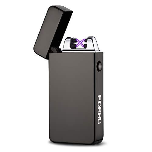 USB briquet- FORHU USB Briquet Arc electrique rechargeable allume cigarette,Sans flamm